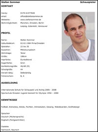 Offizielle Website Zum Schauspieler Stefan Sommer